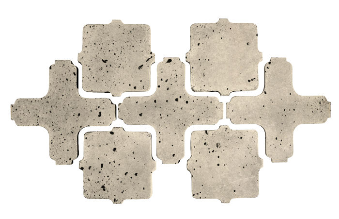 Artillo Arabesque 11A Early Gray Travertine