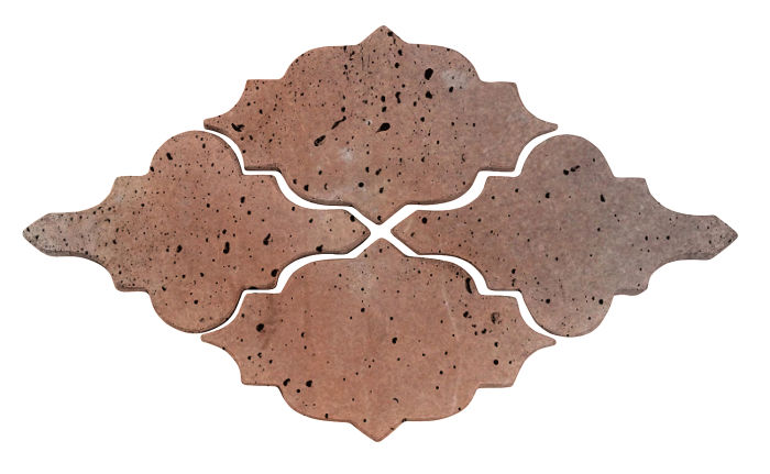 Artillo Arabesque 12 Beachwood Flash Travertine