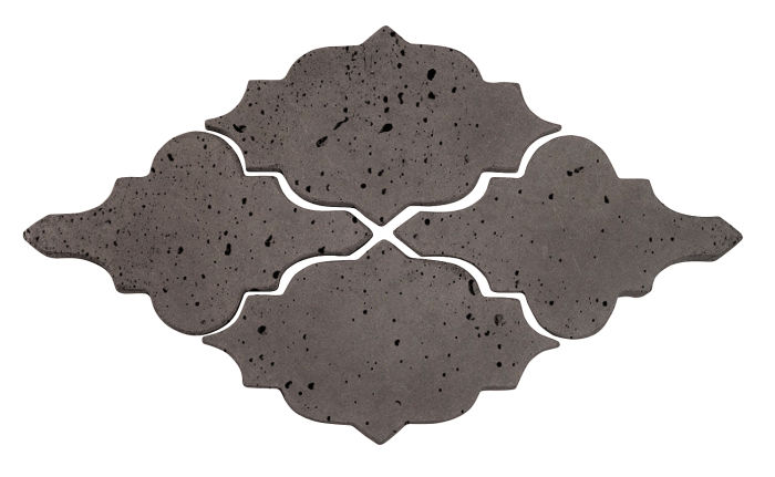 Artillo Arabesque 12 Charcoal Travertine