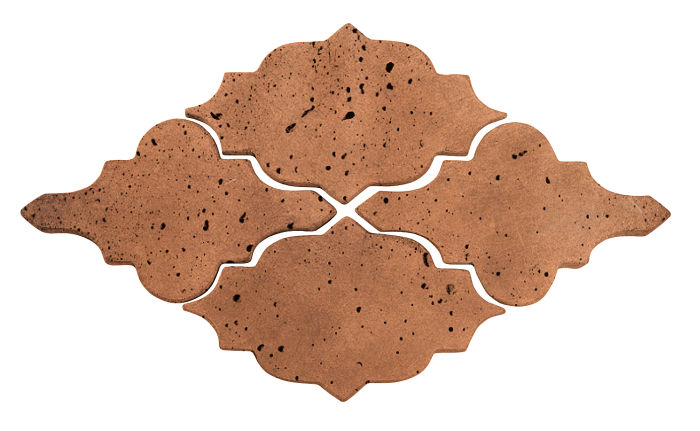Artillo Arabesque 12 Cotto Dark Travertine