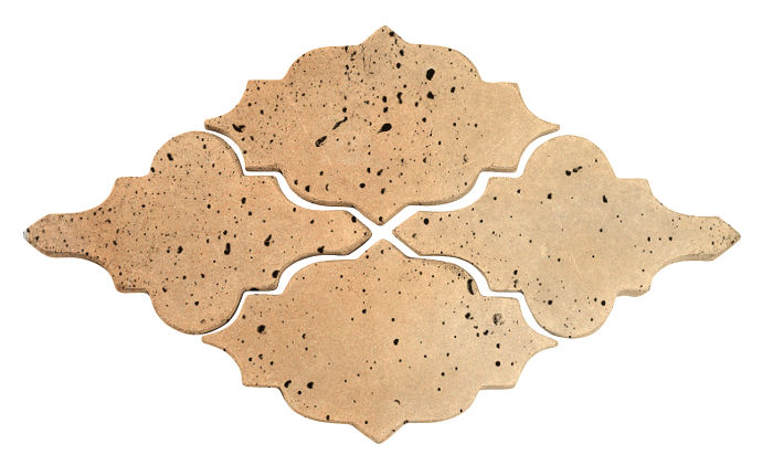 Artillo Arabesque 12 Hacienda Flash Travertine