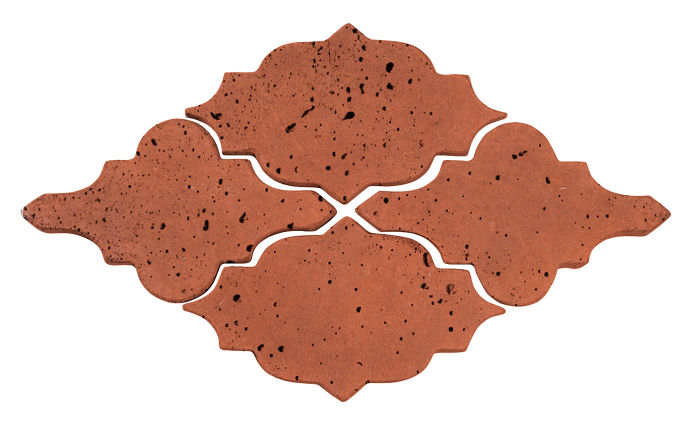 Artillo Arabesque 12 Mission Red Travertine