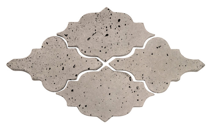 Artillo Arabesque 12 Natural Gray Travertine