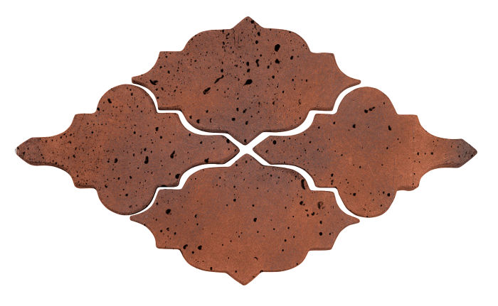 Artillo Arabesque 12 Red Flash Travertine