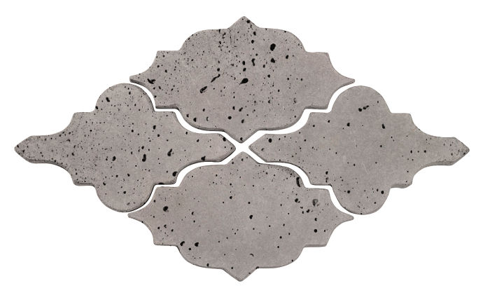 Artillo Arabesque 12 Sidewalk Gray Travertine