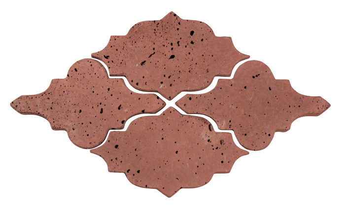 Artillo Arabesque 12 Spanish Inn Red Travertine