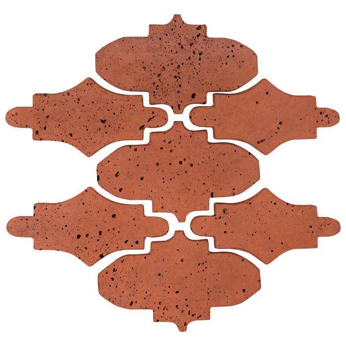 Arab 14 Small Artillo Mission Red Travertine