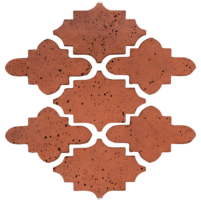 Arab 15 Small Artillo Mission Red Travertine