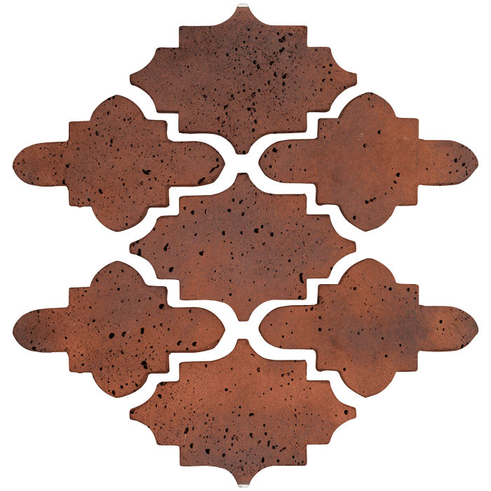 Arab 15 Small Artillo Red Flash Travertine