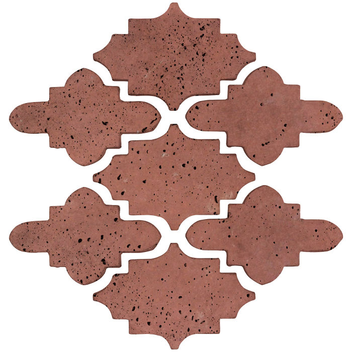 Arab 15 Small Artillo Spanish Inn Red Travertine