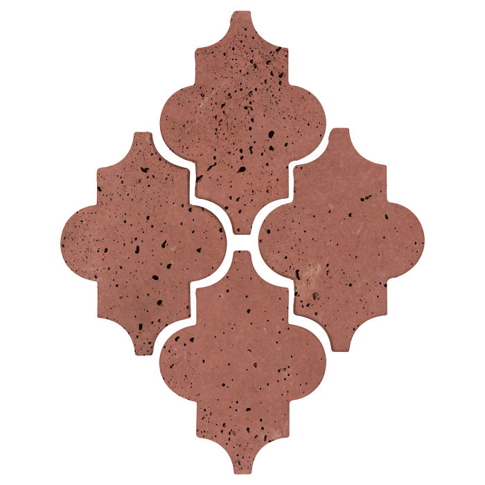 Arab 16 Artillo Spanish Inn Red Travertine
