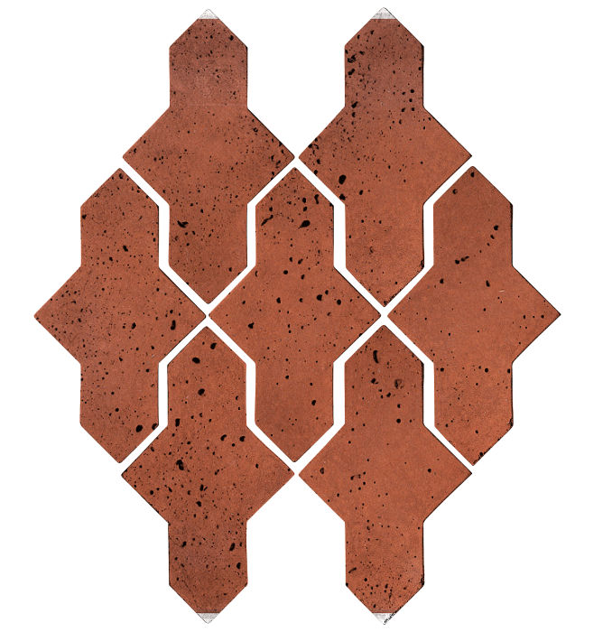 Artillo Arabesque 2A Mission Red Travertine
