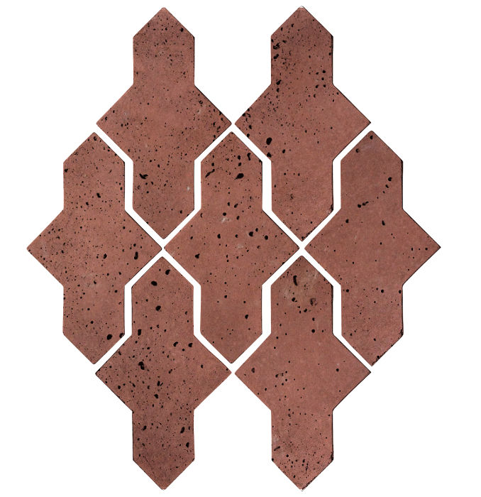 Artillo Arabesque 2A Spanish Inn Red Travertine