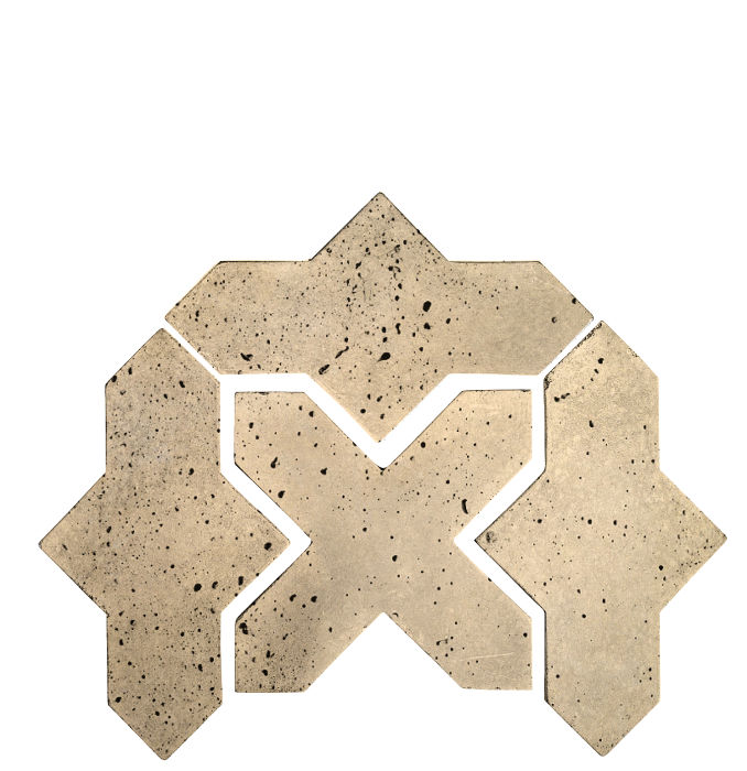 Artillo Arabesque 2B Bone Travertine
