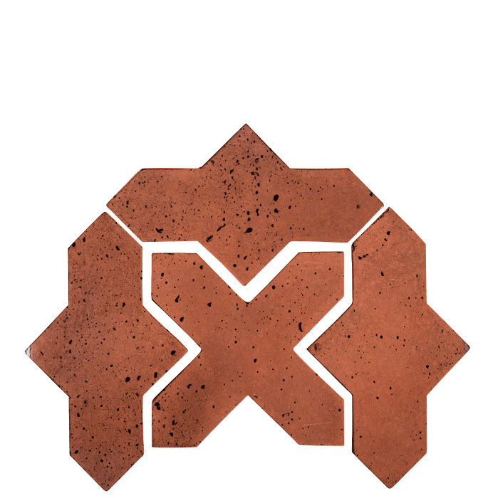 Artillo Arabesque 2B Mission Red Travertine