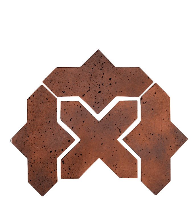Artillo Arabesque 2B Red Flash Travertine