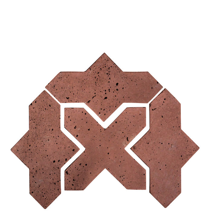 Artillo Arabesque 2B Spanish Inn Red Travertine