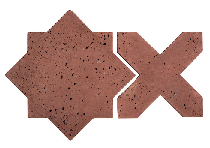Artillo Arabesque 2C Spanish Inn Red Travertine