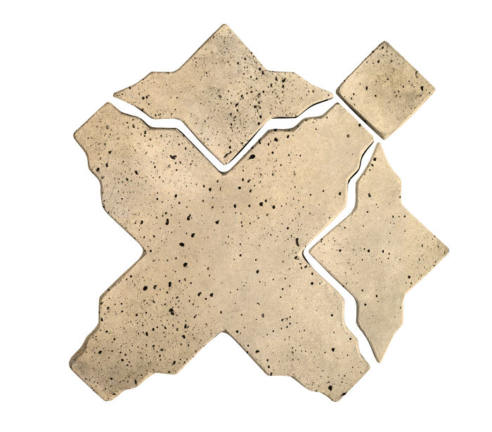 Artillo Arabesque 3 Bone Travertine