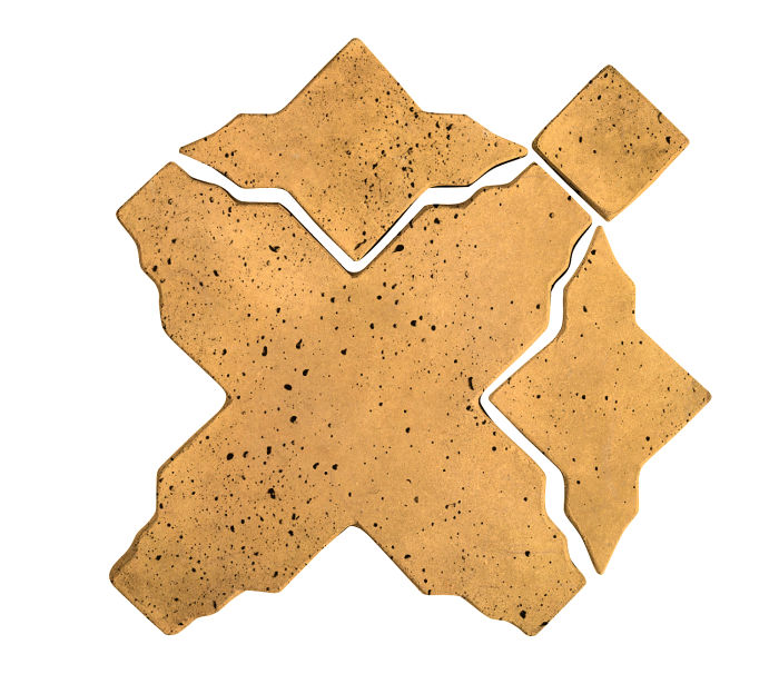 Artillo Arabesque 3 Buff Travertine