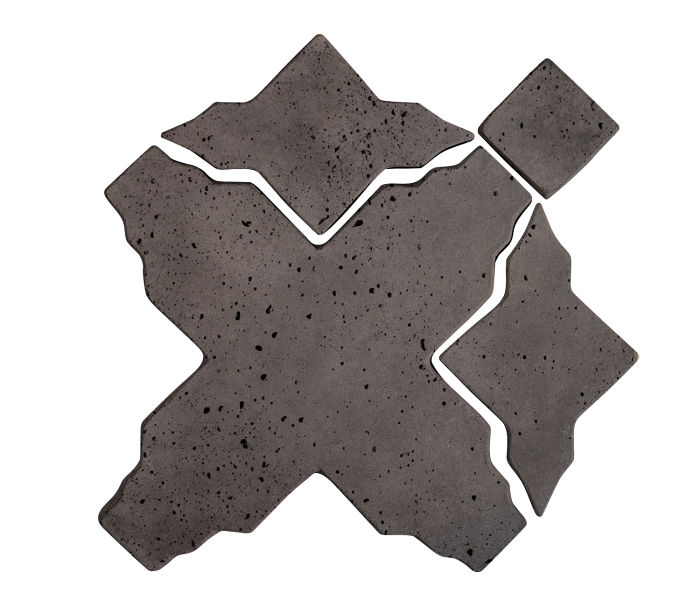 Artillo Arabesque 3 Charcoal Travertine