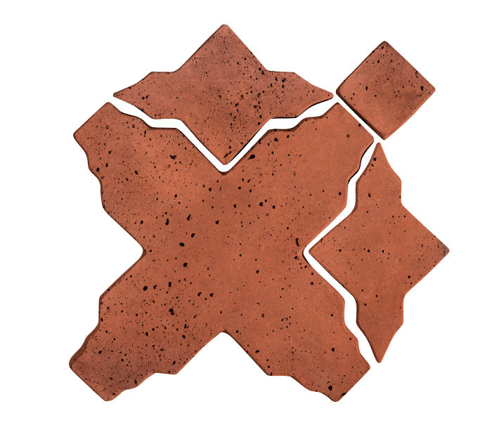 Artillo Arabesque 3 Mission Red Travertine