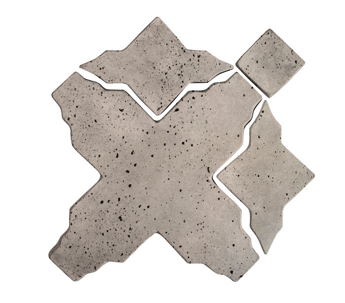 Artillo Arabesque 3 Natural Gray Travertine
