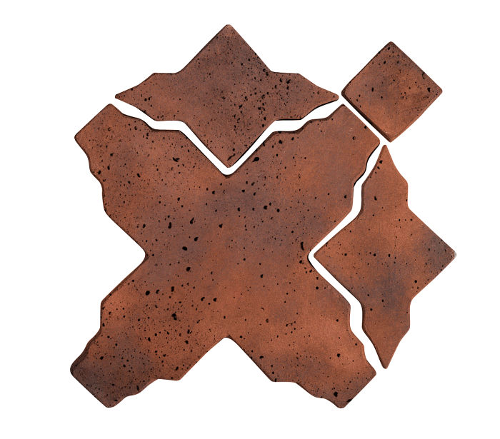Artillo Arabesque 3 Red Flash Travertine