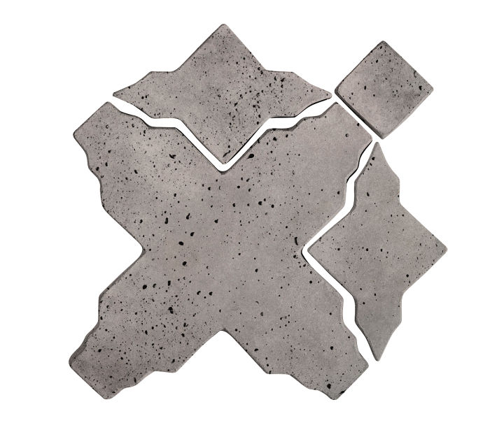 Artillo Arabesque 3 Sidewalk Gray Travertine