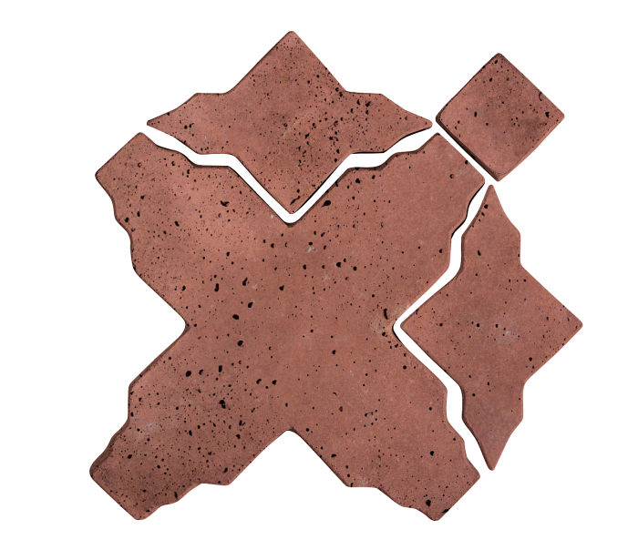 Artillo Arabesque 3 Spanish Inn Red Travertine