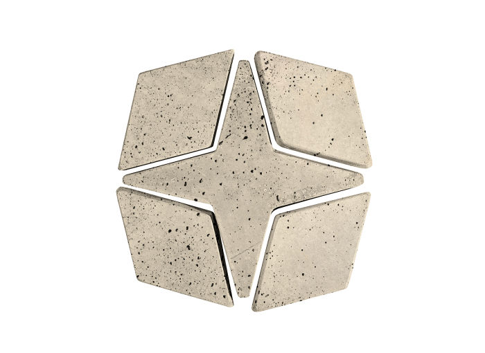 Artillo Arabesque 4 Early Gray Travertine