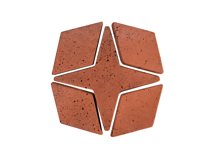 Artillo Arabesque 4 Mission Red Travertine