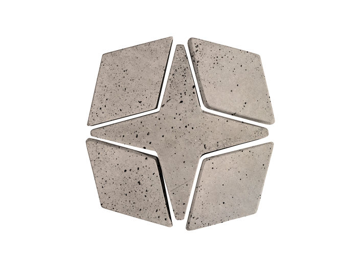 Artillo Arabesque 4 Natural Gray Travertine