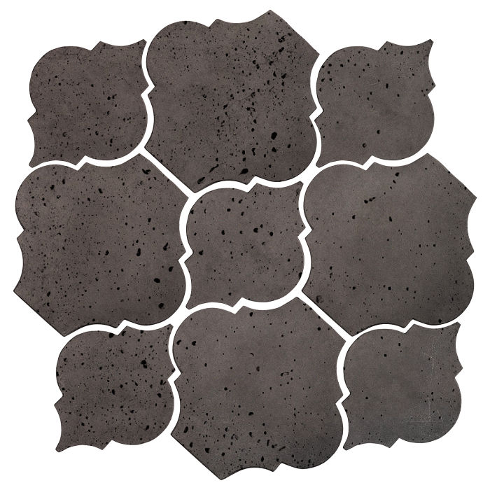 Artillo Arabesque 5B Charcoal Travertine