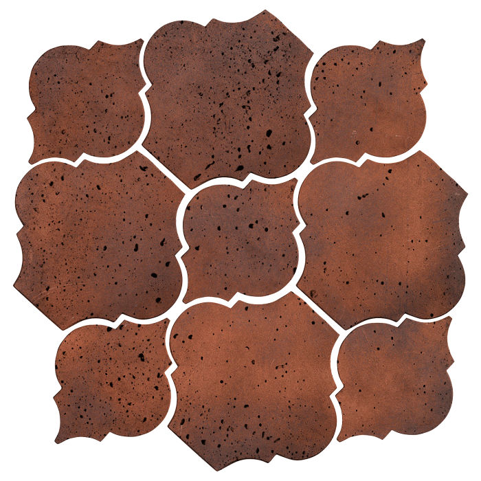 Artillo Arabesque 5B Red Flash Travertine
