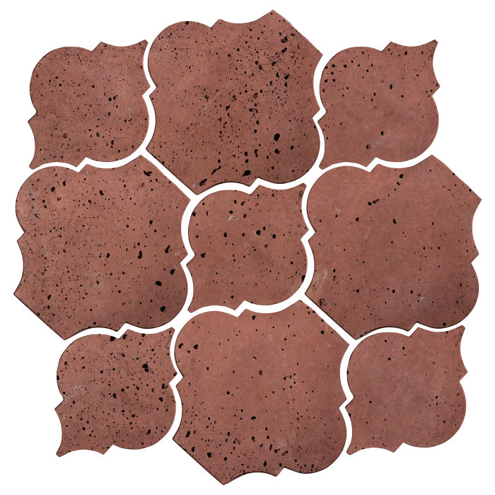 Artillo Arabesque 5B Spanish Inn Red Travertine