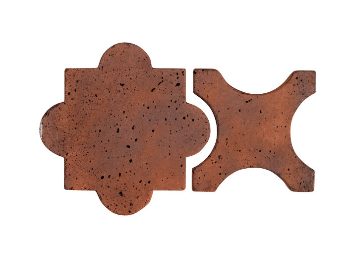 Artillo Arabesque 8A Red Flash Travertine