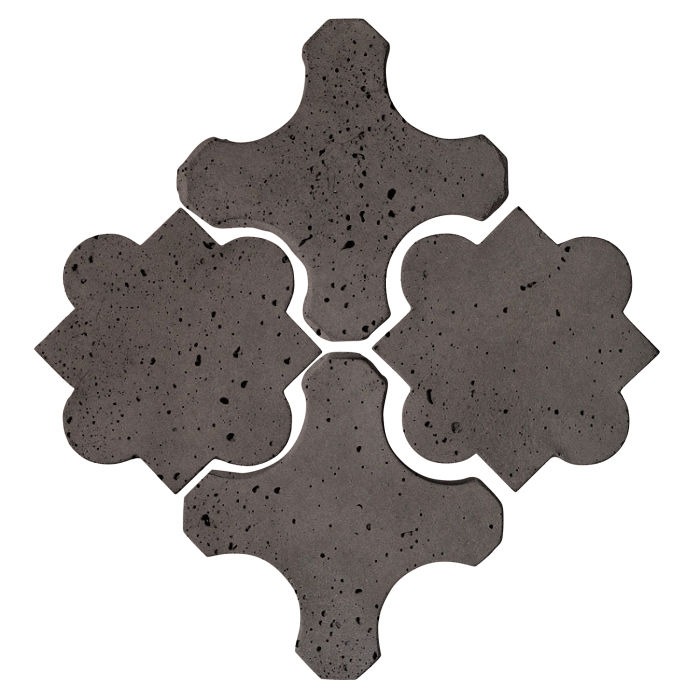 Artillo Arabesque 8B Charcoal Travertine