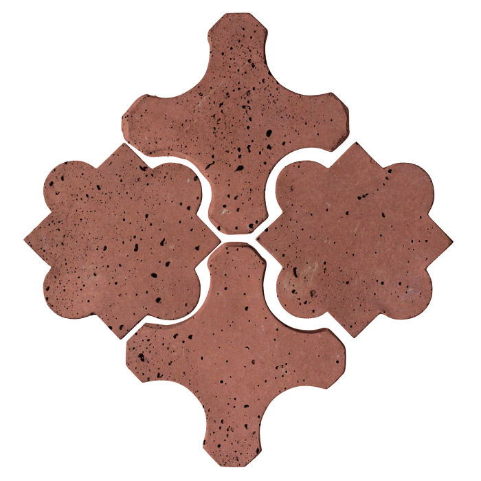 Artillo Arabesque 8B Spanish Inn Red Travertine