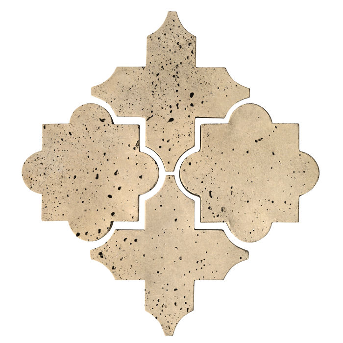 Artillo Arabesque 8C Bone Travertine