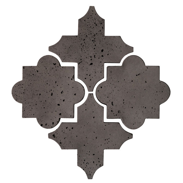 Artillo Arabesque 8C Charcoal Travertine