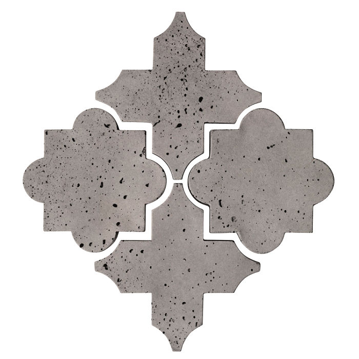 Artillo Arabesque 8C Sidewalk Gray Travertine