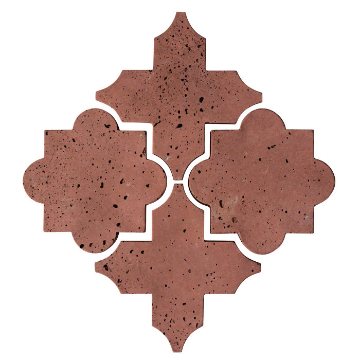 Artillo Arabesque 8C Spanish Inn Red Travertine