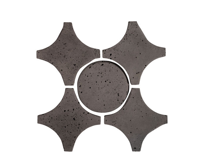 Artillo Arabesque 9A Charcoal Travertine