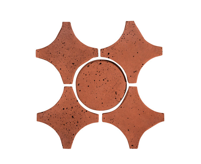 Artillo Arabesque 9A Mission Red Travertine
