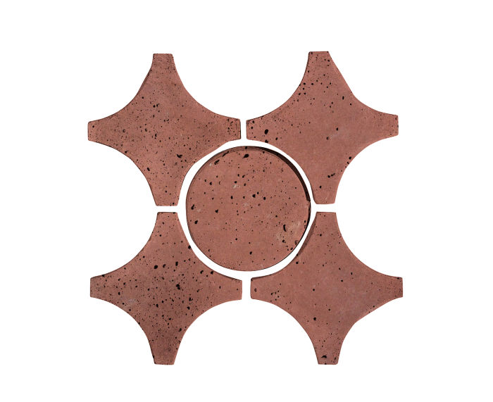 Artillo Arabesque 9A Spanish Inn Red Travertine