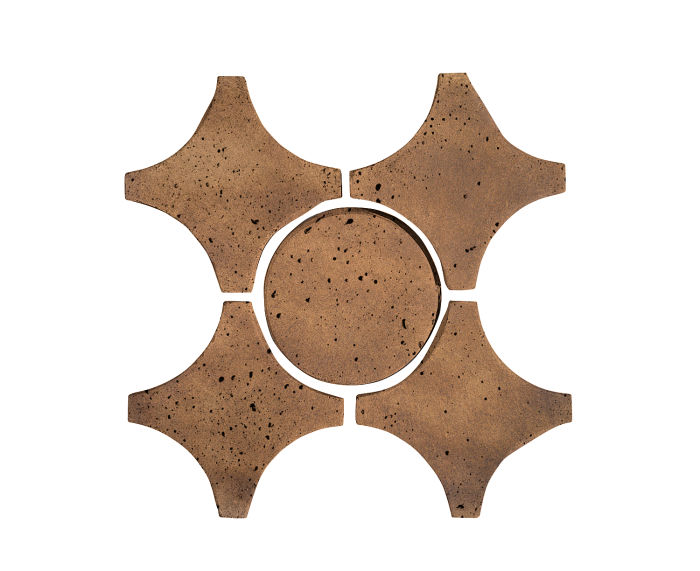 Artillo Arabesque 9A Tuscan Mustard Travertine