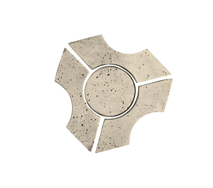 Artillo Arabesque 9B Early Gray Travertine