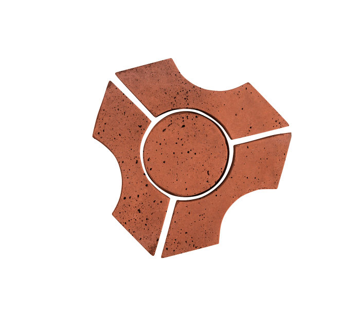Artillo Arabesque 9B Mission Red Travertine