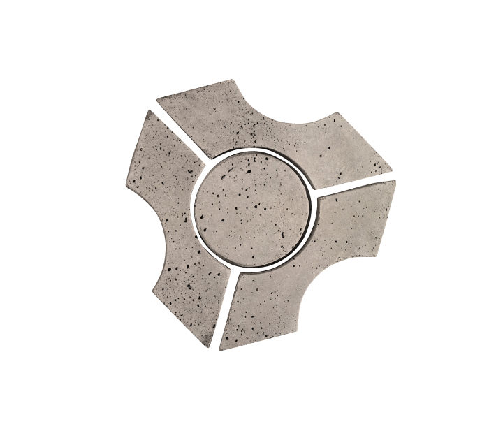 Artillo Arabesque 9B Natural Gray Travertine